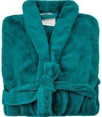 roupã£o de banho microfibra soft camesa  verde  - grade - verde - dafiti