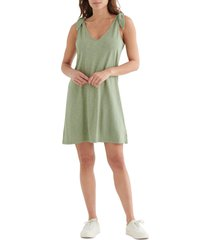 women's lucky brand knotted tank dress, size xx-large - green