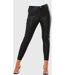 jeans missguided plus size vice coated  negro - calce skinny