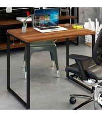 mesa escrivaninha office kuadra nogal 8395 - compace