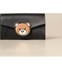 moschino couture clutch mini shoulder bag with teddy