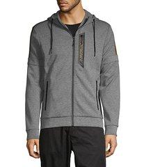 drawstring cotton-blend hoodie