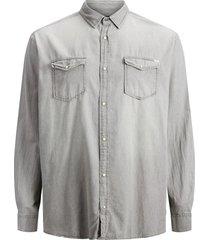 jack & jones plus size overhemd vrijetijd grijs denim