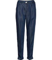 chino pant in drapey tencel indigo quality chinos byxor blå scotch & soda