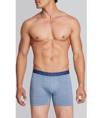 boxer corto algodón azul l