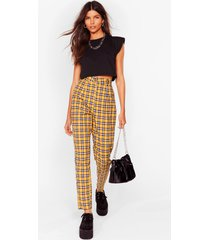 womens checkin' back later tapered pants - yellow