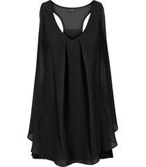top con volant (nero) - bodyflirt boutique
