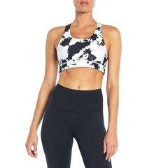 wildfox women's reversible sports bra - white black - size xl