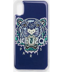 kenzo men's tiger iphone x case - blue