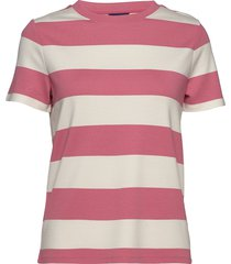 d2. barstriped jersey ss top t-shirts & tops short-sleeved roze gant
