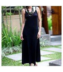 rayon jersey maxi dress, 'ubud chic' (indonesia)