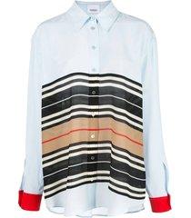 icon stripe oversized shirt