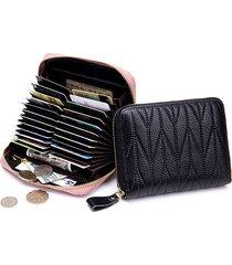 portafoglio in pelle vera con rfid con 24 card slots portamonete