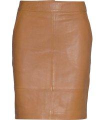 chargz mini skirt kort kjol brun gestuz