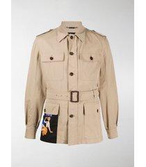 dolce & gabbana belted safari jacket
