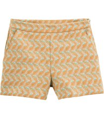 jacquardmönstrade shorts med snedfickor