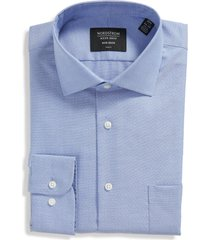men's big & tall nordstrom trim fit non-iron end on end dress shirt, size 17.5 - 36/37 - purple