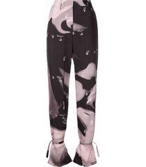 off-white liquid melt tie-ankle trousers - black