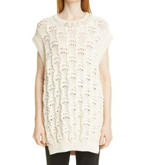 women's simone rocha embellished sleeveless bubble sweater, size x-small - black