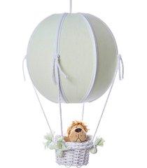 lustre balão bolinha floresta quarto safári bebê infantil potinho de mel verde