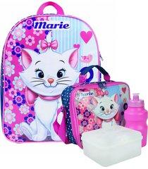 kit escolar marie disney mochila + lancheira