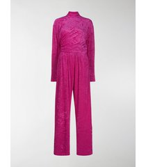 balenciaga textured wrap style jumpsuit