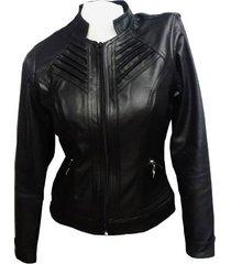 chaqueta de cuero sintético para mujer  cuerotex