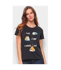 camiseta t-shirt cantão classic barraco feminina