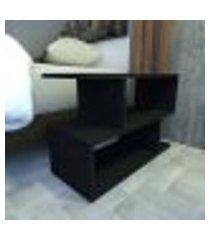 mesa de cabeceira 25x60x50 cm mdf preto tx modelo en4403mc