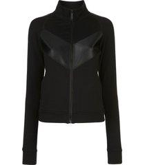 alala panelled zip-up sweatshirt - black
