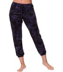 onzie women's fleece sweatpants - amethyst tie dye sm spandex