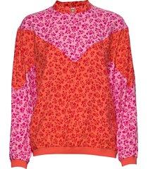 flower jam bombella blouse lange mouwen roze mads nørgaard