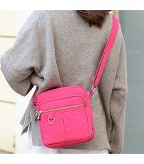 crossbody casuale impermeabile delle donne borsa nylon spalla borsa