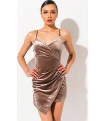 akira best believe it velvet mini dress