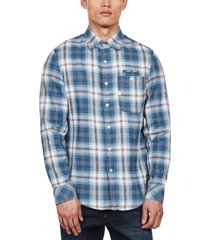 g-star raw men's bristum slim-fit plaid shirt, created for macy's