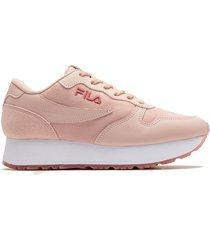 zapatilla rosa fila euro jogger femedge