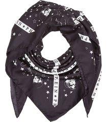 philipp plein black silk scarf