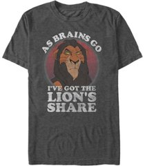 disney men's lion king scar the lion's share of brains, short sleeve t-shirt