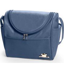 bolsa maternidade hug baby maçã do amor g azul-marinho