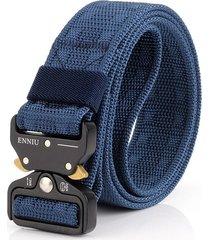 cinturón de hombres, cinturón táctico al aire libre-azul