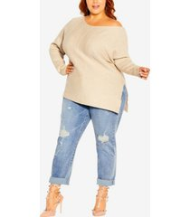 plus size lean in jumper sweater