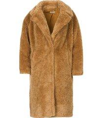 faux fur jas judy  camel