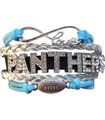 carolina panthers bracelet - rhinestone carolina panthers jewelry, football gift