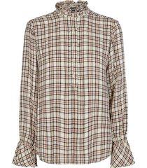 geruite dames blouse mos mosh - 124670-647