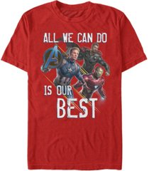 marvel men's avengers endgame do our best short sleeve t-shirt