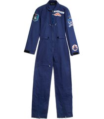 mr & mrs italy aviation-inspired jumpsuit for woman