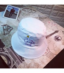 clásico algodón carta cubo sombrero sombrero pescador sombrero de viaje al