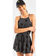 chrissie star knit romper - charcoal