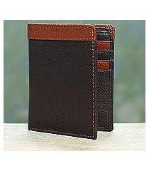 men's leather wallet, 'espresso sienna harmony' (india)