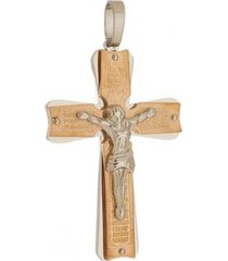 pingente crucifixo grande tudo joias rosê de aço inox